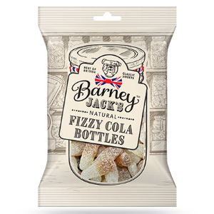 BARNEY JACKS FIZZY COLA BOTTLES (150g) x 12