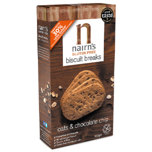 NAIRN'S CHOCOLATE CHIP & OATS BISCUIT BREAKS (3-pack) x 12