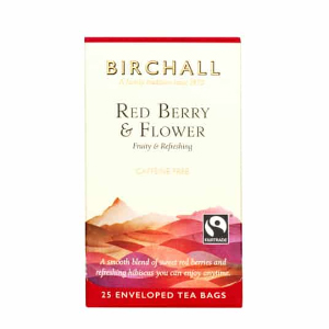 BIRCHALL RED BERRY & FLOWER TEA BAGS (25 bags)