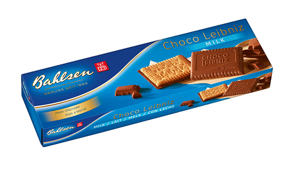 BAHLSEN CHOCO LEIBNIZ MILK CHOCOLATE BISCUITS (125g) x 12
