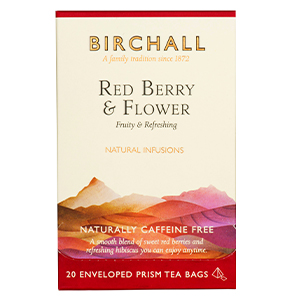 BIRCHALL RED BERRY & FLOWER TAG ENVELOPE PRISM TEA BAGS (20 bags)