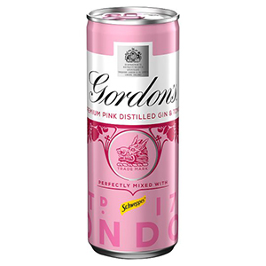 GORDON'S PINK GIN & TONIC CANS (250ml) x 12
