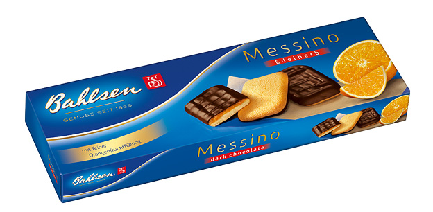 BAHLSEN MESSINO TANGY JAFFA CAKES (125g) x 12