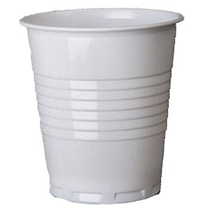 SQUAT PLASTIC CUPS WHITE (7oz/200ml) x 2000