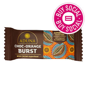 ADUNA CHOC-ORANGE BURST – WITH CACAO SUPERFOOD (40g) x 16