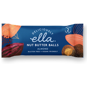 DELICIOUSLY ELLA NUT BUTTER BALLS - ALMOND (36g) x 12
