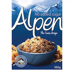 ALPEN NO ADDED SUGAR MUESLI (560g) x 6