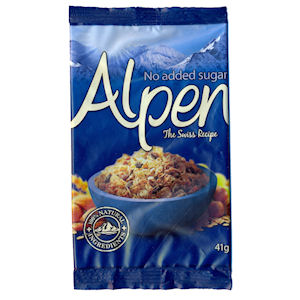 ALPEN NO ADDED SUGAR INDIVIDUAL PORTIONS (50g) x 50