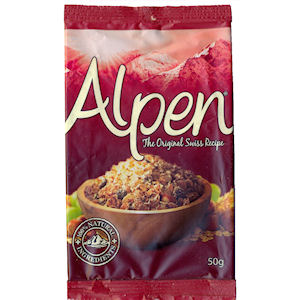 ALPEN ORIGINAL INDIVIDUAL PORTIONS (50g) x 50