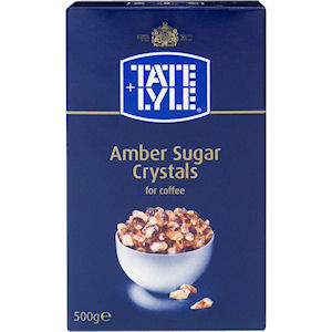 TATE & LYLE AMBER SUGAR CRYSTALS FOR COFFEE (500g)