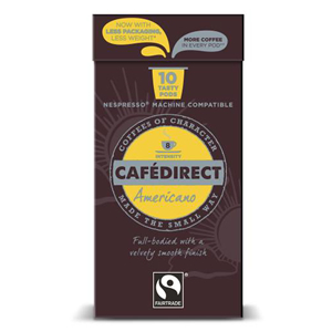 CAFÉDIRECT NESPRESSO COMPATIBLE COFFEE CAPSULES - AMERICANO INTENSITY 8 (10 pods)