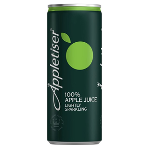 APPLETISER SPARKLING APPLE JUICE CANS (250ml) x 24