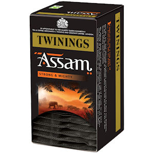 TWININGS ASSAM TAG & ENVELOPE TEA BAGS (20 bags)