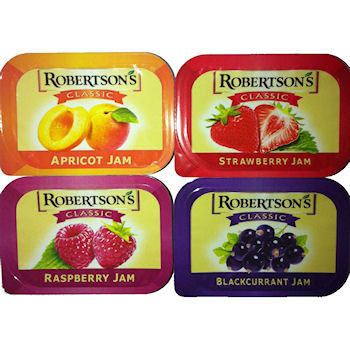ROBERTSON'S CLASSIC ASSORTED JAM PORTIONS (PLASTIC) x 100