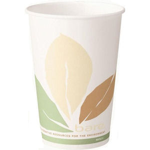 SOLO BARE ECO-FORWARD SINGLE-SIDED PLA PAPER HOT DRINK CUPS (12oz/341ml) x 1000