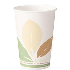 SOLO BARE ECO-FORWARD SINGLE-SIDED PLA PAPER HOT DRINK CUPS (8oz/227ml) x 1000