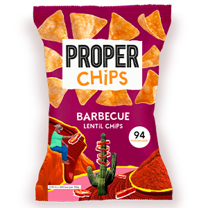 PROPERCHIPS BARBECUE LENTIL CHIPS (20g) x 24