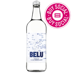 BELU MINERAL WATER SPARKLING - CLEAR GLASS BOTTLES (750ml) x 12