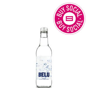 BELU MINERAL WATER SPARKLING - CLEAR GLASS BOTTLES (330ml) x 24