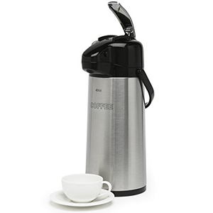 1.9L INSCRIBED STAINLESS STEEL COFFEE JUG