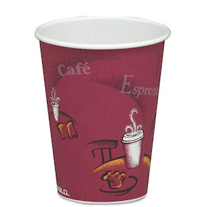SOLO BISTRO PATTERNED PAPER HOT DRINK CUPS (10oz/284ml) x 1000