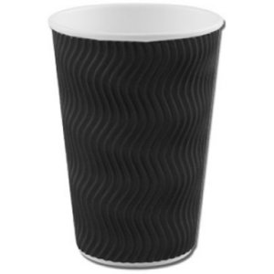 BLACK RIPPLE CUPS (12oz/341ml) x 500