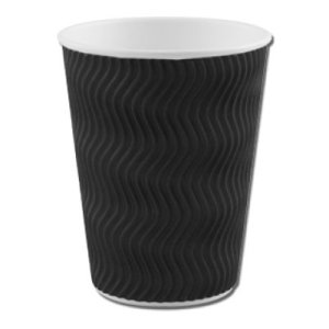 BLACK RIPPLE CUPS (8oz/227ml) x 500