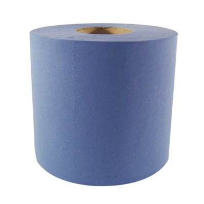 BLUE 2 PLY CENTRE FEED ROLL (150m)
