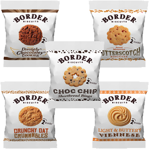 BORDER MINI PACK ASSORTED BISCUITS (2-pack) x 100