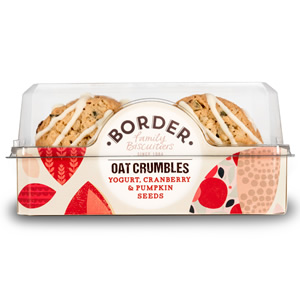 BORDER YOGURT, CRANBERRY & PUMPKIN SEED CRUMBLES (175g) x 6