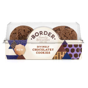 BORDER DIVINELY CHOCOLATE COOKIES (150g) x 6