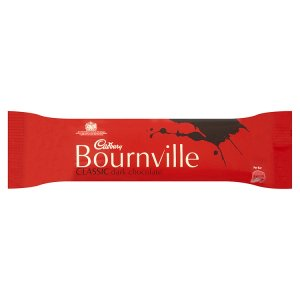 CADBURY BOURNVILLE PLAIN CHOCOLATE BARS (45g) x 36