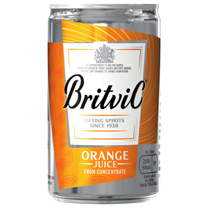 BRITVIC ORANGE JUICE MIXER CAN (150ml) x 24