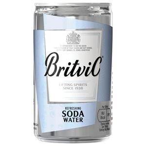 BRITVIC SODA WATER MIXER CANS (150ml) x 24