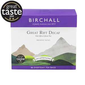 BIRCHALL GREAT RIFT DECAF EVERYDAY TEA BAGS (80 bags)