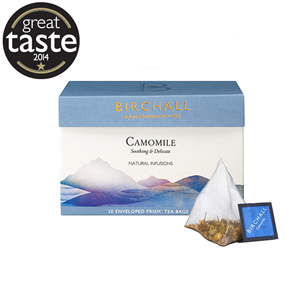 BIRCHALL CAMOMILE TAG & ENVELOPE PRISM TEA BAGS (20 bags)