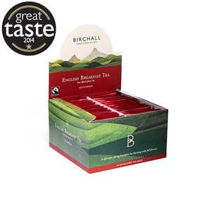BIRCHALL ENGLISH BREAKFAST TEA TAG & ENVELOPE TEA BAGS (50 bags)