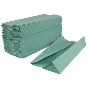 STAPLES C-FOLD 1 PLY PAPER HAND TOWELS GREEN (168-pack) x 16