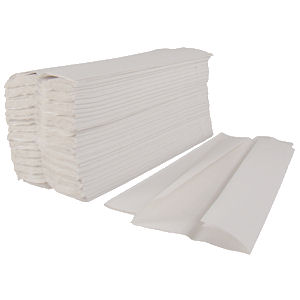 STAPLES C-FOLD 1 PLY PAPER HAND TOWELS WHITE (168-pack) x 16
