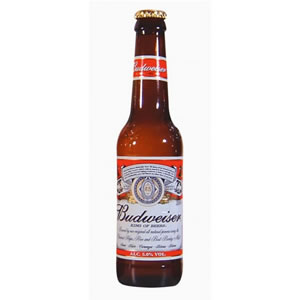 BUDWEISER BEER - GLASS BOTTLES (330ml) x 24