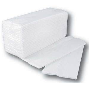 STAPLES C-FOLD 2 PLY PAPER HAND TOWELS WHITE (162-pack) x 15