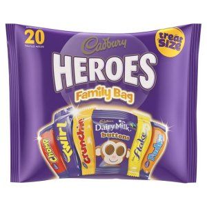 CADBURY HEROES TREAT SIZE BARS PACK (278g)