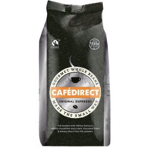 CAFÉDIRECT FAIRTRADE ESPRESSO COFFEE BEANS (1kg) x 4
