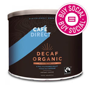CAFÉDIRECT FAIRTRADE ORGANIC DECAFFEINATED INSTANT COFFEE TIN (500g)