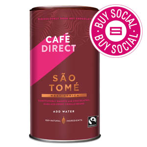 CAFÉDIRECT SAO TOMÉ HOT CHOCOLATE TIN (300g)