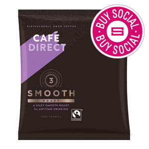 CAFÉDIRECT FAIRTRADE SMOOTH ROAST 100% ARABICA FILTER COFFEE (3-pints) x 45