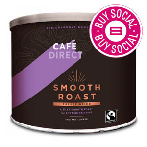 CAFÉDIRECT FAIRTRADE SMOOTH ROAST INSTANT COFFEE TIN (500g)