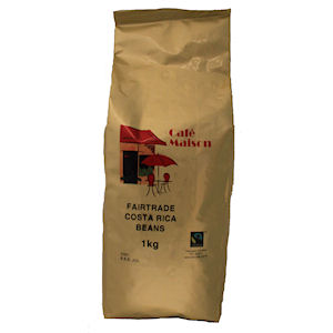 CAFÉ MAISON FAIRTRADE COSTA RICA COFFEE BEANS (1kg) x 6