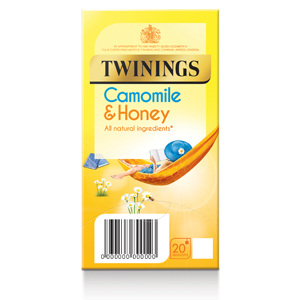 TWININGS SOOTHING CAMOMILE & HONEY TEA BAGS (20 bags)