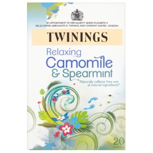 TWININGS RELAXING CAMOMILE & SPEARMINT TEA BAGS (20 bags)